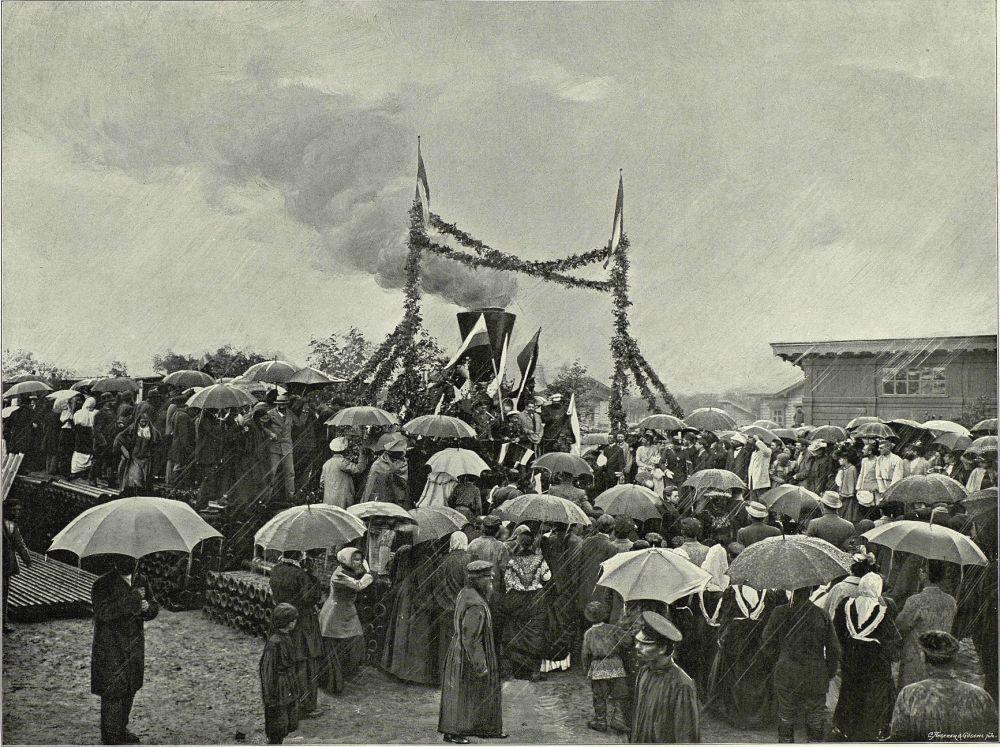 Otwarcie Tomskiej Linii Kolei Transsyberyjskiej w 1899 roku.