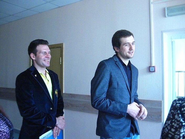 Sportowcy Denis Juskow i Jewgienij Seriajew