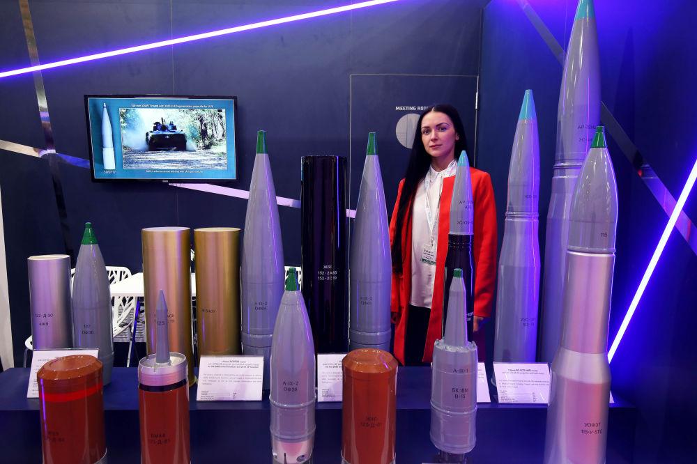 Stoisko rosyjskich ciężkich pocisków