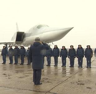 Tu-22M3 po zakończeniu operacji Sił Powietrzno-Kosmicznych Federacji Rosyjskiej w Syrii wróciły do obwodu murmańskiego