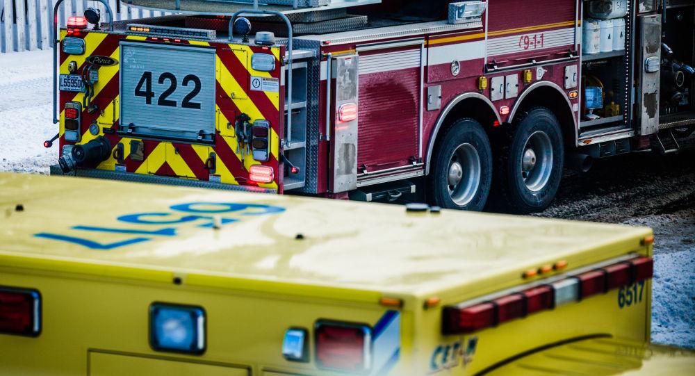 Straż pożarna i karetka w Kanadzie
