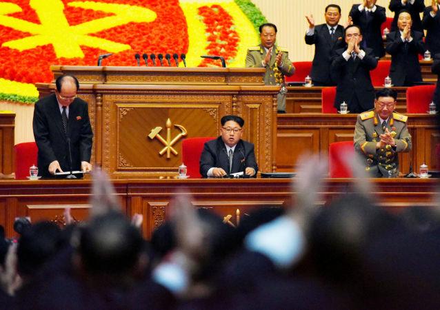 Przywódca KRLD Kim Dzong Un na zjeździe Partii Pracy w Pjongjangu