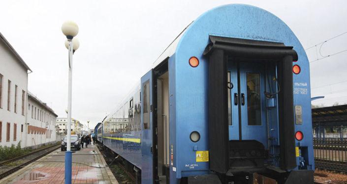 """Pociąg, który """"Ukrzaliznycia"""" wysłały na trasę Kijów-Wiedeń"""