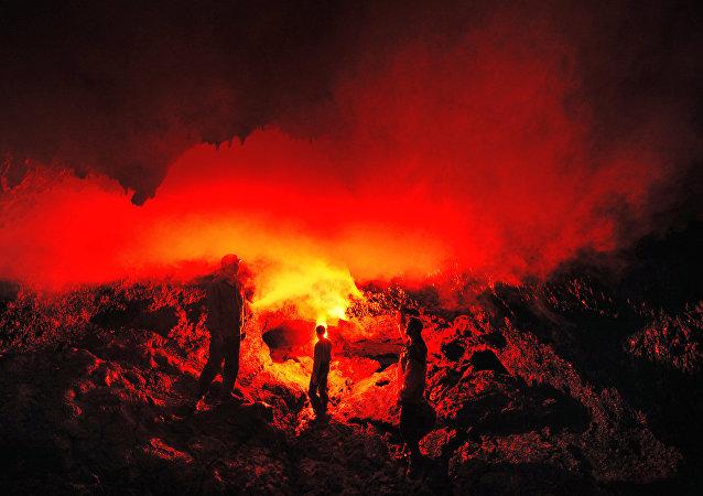 Wulkan na Kamczatce