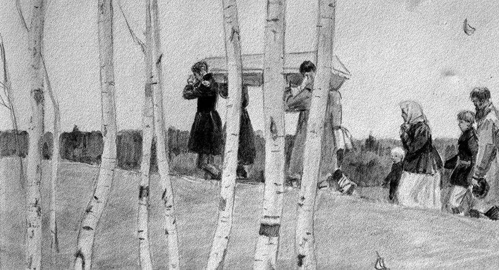 Ilustracja do powieści A. Puszkina Dubrowski.