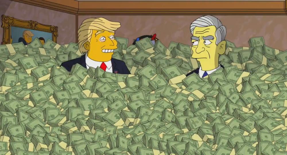 Trump dał łapówkę Muellerowi w... Simpsonach
