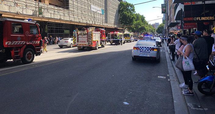 Policja na ulicy w Melbourne