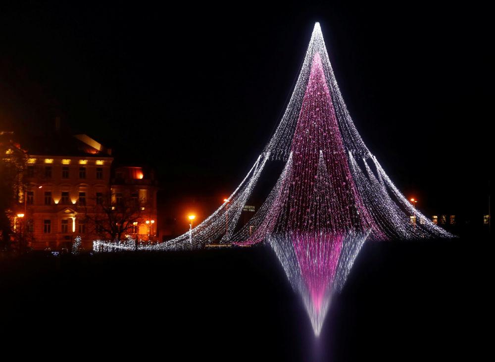 Świąteczne iluminacje w Wilnie