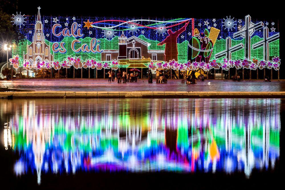 Świąteczne iluminacje w Kolumbii