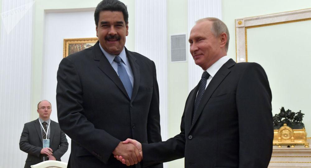Prezydent Rosji Władimir Putin i prezydent Wenezueli Nicolas Maduro w czasie spotkania