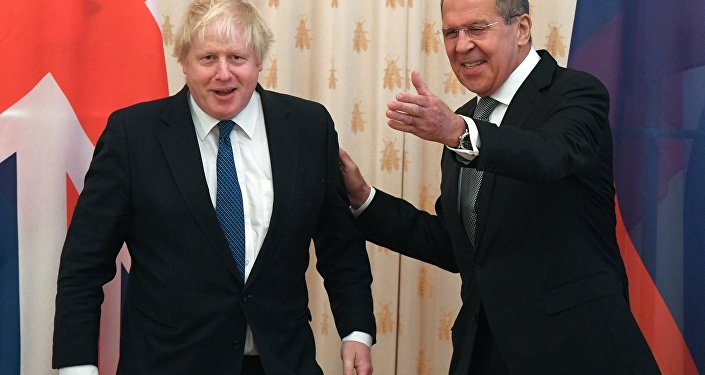 Boris Johnson i Siergiej Ławrow