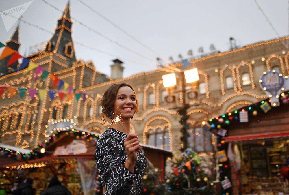 Świąteczny jarmark na Placu Czerwonym
