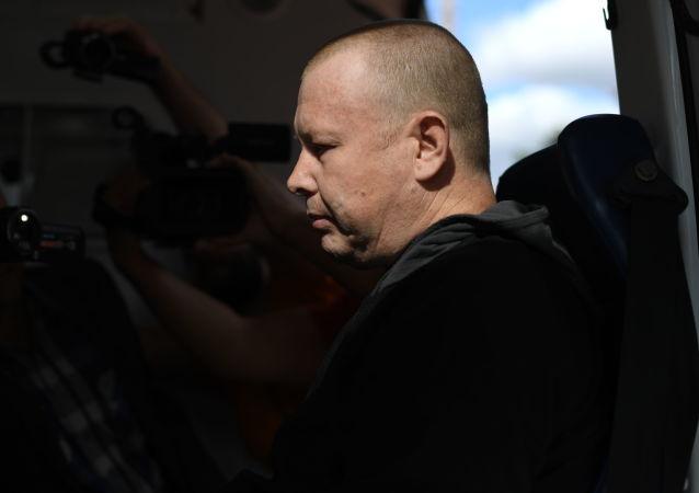 Mieszkaniec Ukrainy Władimir Żemczugow w czasie wymiany jeńców