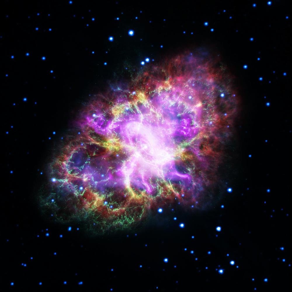 Zdjęcia Mgławicy Kraba po raz pierwszy pozwoliły astronomom zobaczyć jej pełen portret.