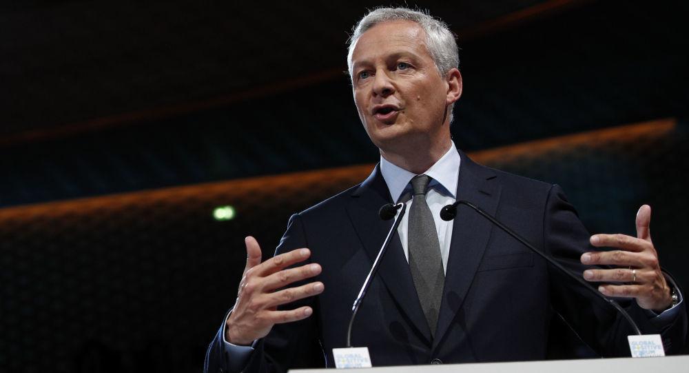 Minister gospodarki i finansów Francji Bruno Le Maire