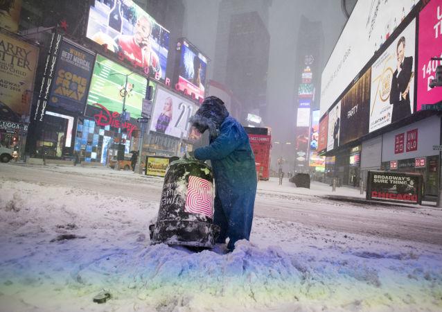 Atak zimy w Nowym Jorku