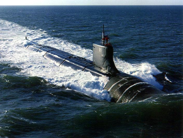 """Amerykański wielozadaniowy okręt podwodny typu """"Seawolf"""" (""""Wilk morski"""")"""