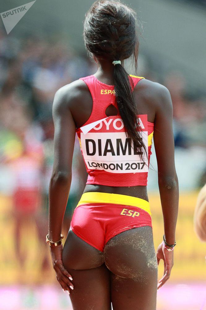 Hiszpańska lekkoatletka Fátima Diame