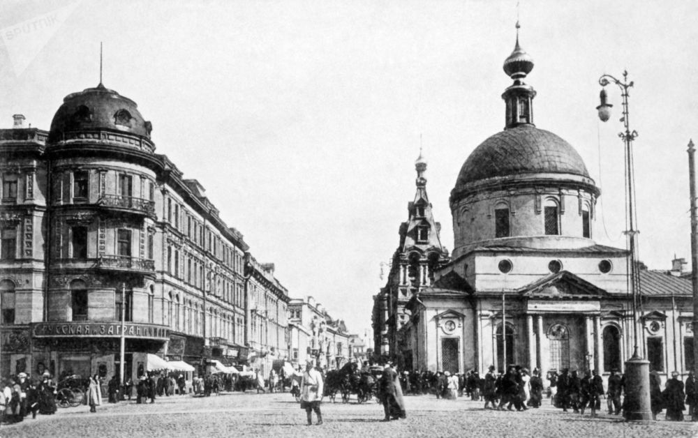 Ulica Twierskaja w Moskwie, 1914 rok