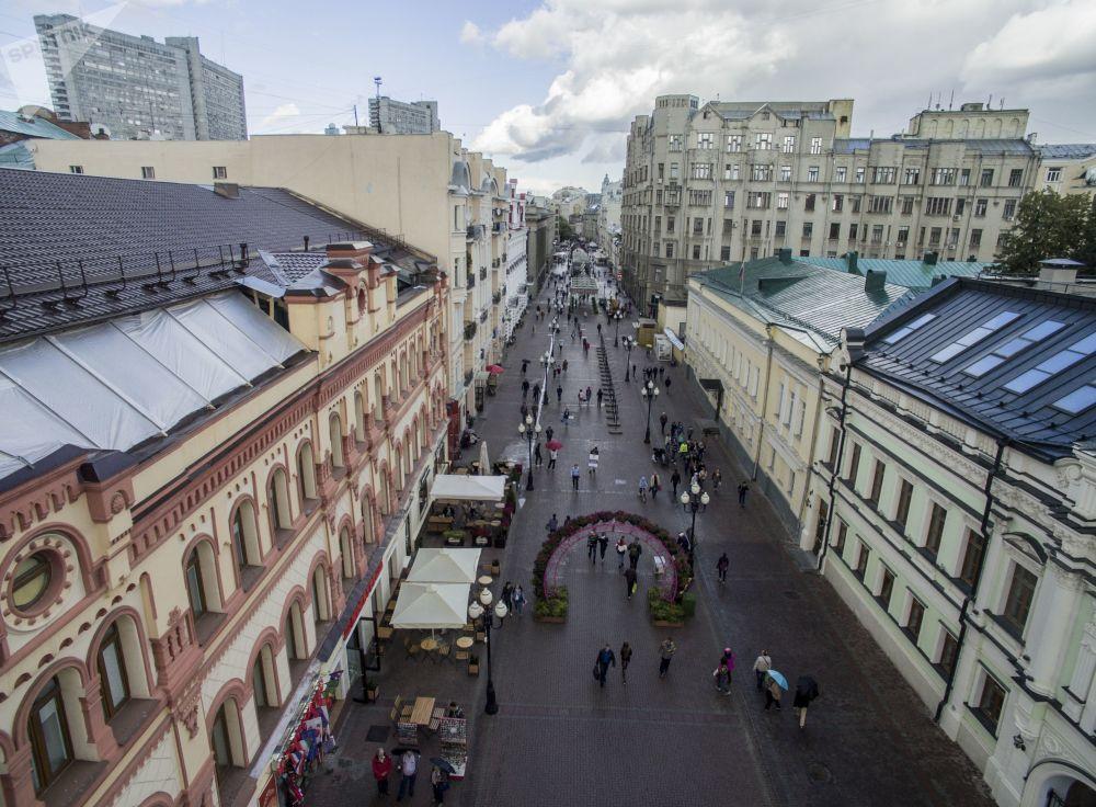 Ulica Stary Arbat w Moskwie, 2016 rok