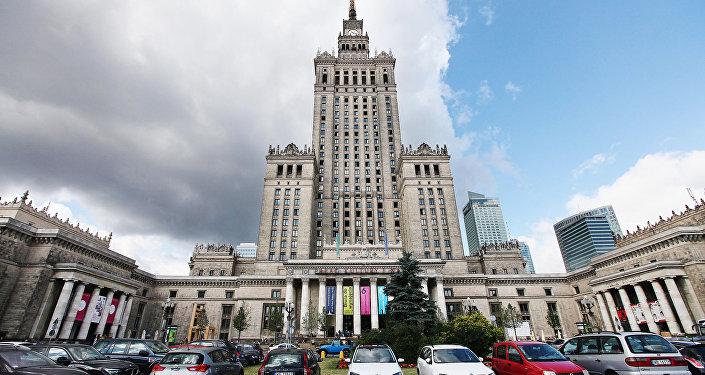 Здание Дворца культуры и науки в Варшаве, Польша