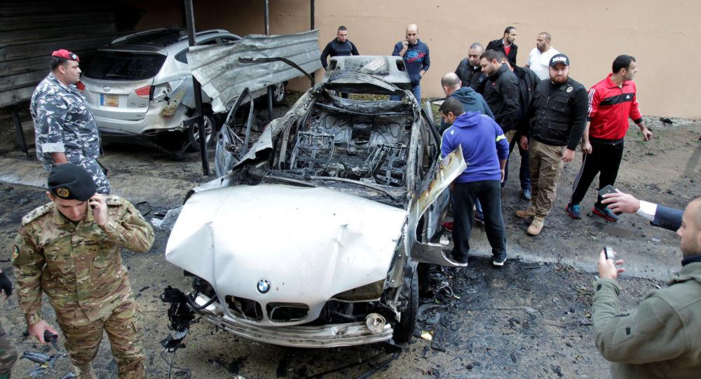 Wysadzony samochód w Libanie