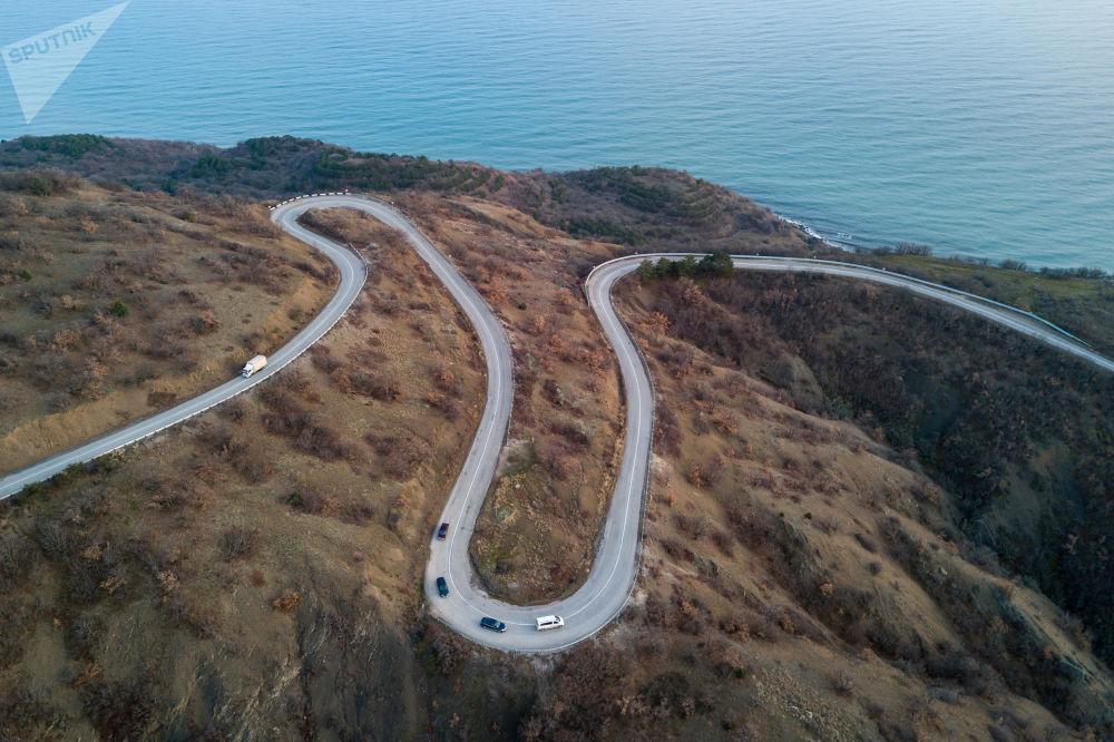 Droga w okolicach miasteczka Maloreczenskoje
