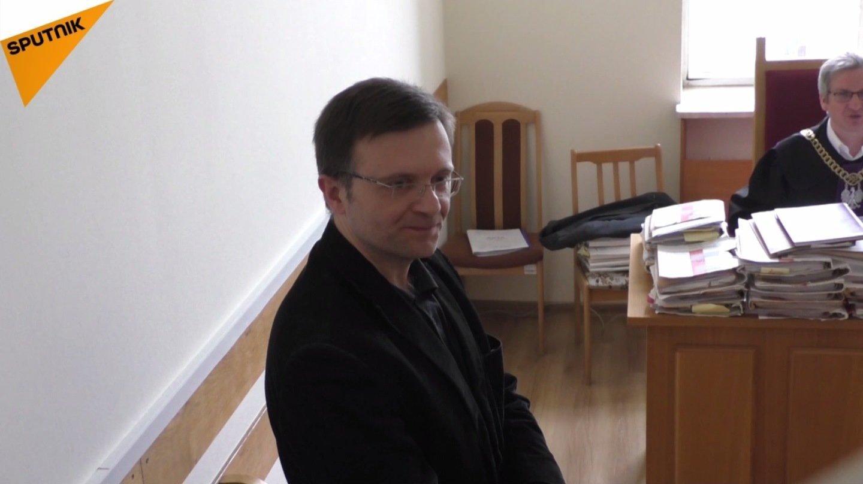 Mateusz Piskorski w sądzie w Warszawie, 16.01.2018r.