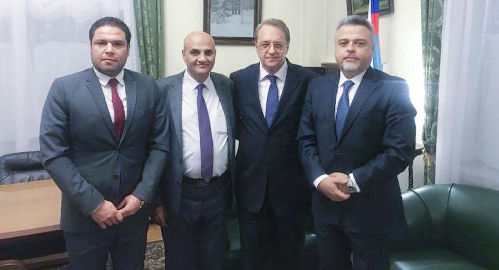 Delegacja Syryjskiej Partii Socjal-Nacjonalistycznej w Moskwie