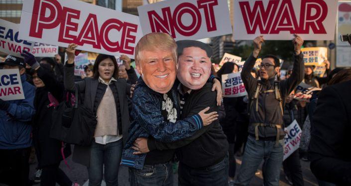 Protesty w Korei Południowej w przeddzień wizyty Trumpa