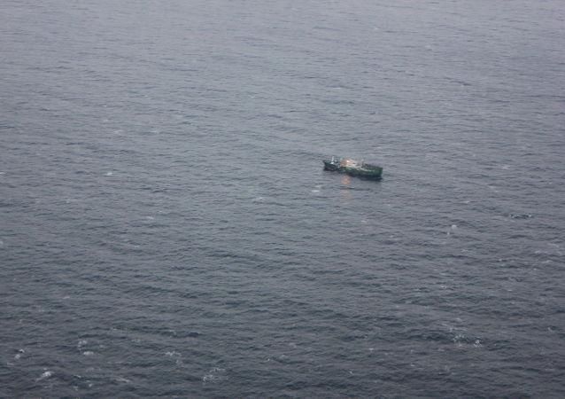 Poszukiwanie statku na Morzu Japońskim. Zdjęcie archiwalne