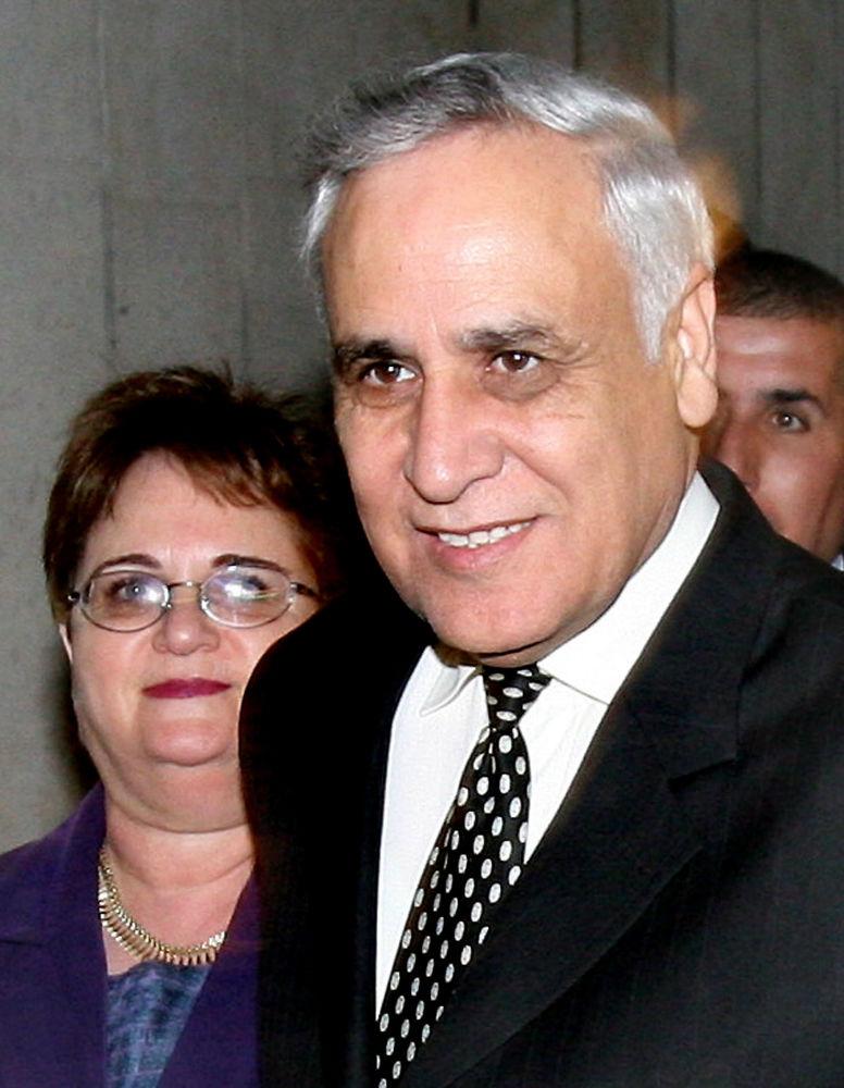 Prezydent Izraela Moshe Katzav i jego żona Gila
