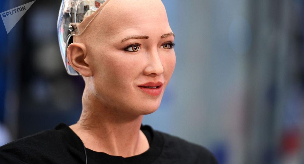 Humanoidalny robot Sofia opracowany przez specjalistę firmy Hanson Robotics Davida Hansona