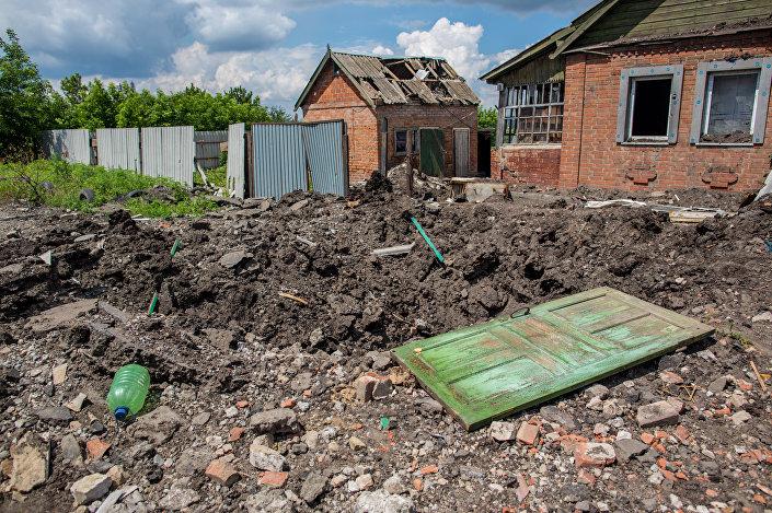 Sytuacja w Doniecku, miejscowość Siemionowka