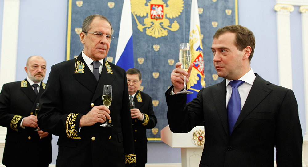 Siergiej Ławrow i Dmitrij Miedwiediew