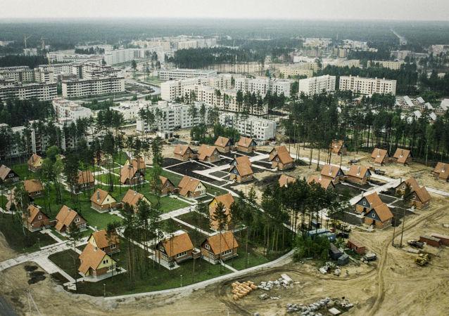 Panorama ukraińskiego miasta Sławutycz