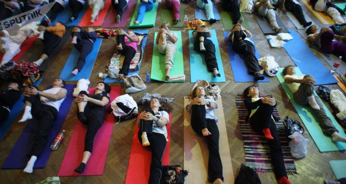 Zajęcia jogi w centrum jogi pod Tuapse