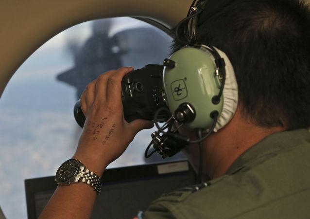 Poszukiwanie zaginionego malezyjskiego samolotu MH370 na wodach Oceanu Indyjskiego w pobliżu Australii. Zdjęcie archiwalne