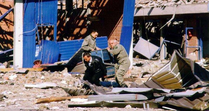 Novi Sad po bombardowaniu przez NATO w 1999 roku