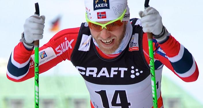 Norweski narciarz Martin Johnsrud Sundby
