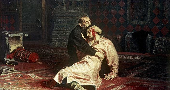 Ilja Riepin Car Iwan Groźny i jego syn Iwan 16 listopada 1581 roku