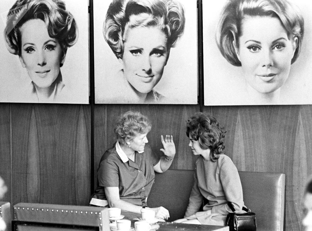 Salon piękności Czarodziejka w Moskwie, 1974 rok.