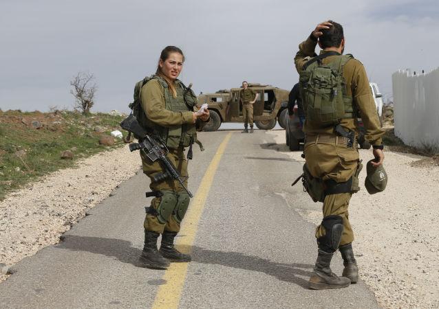 Izraelscy wojskowi na Wzgórzach Golan