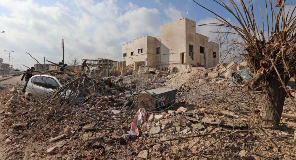Zniszczenia w syryjskim Serakabie