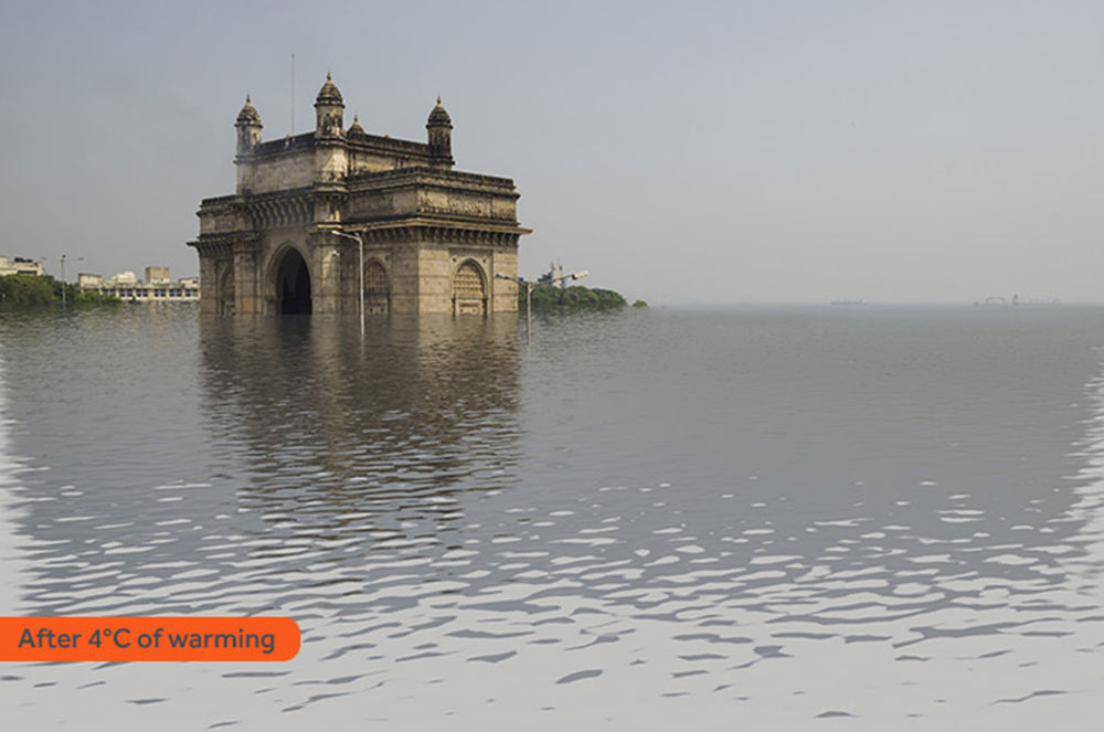 Jak wyglądałby Mumbaj po zatopieniu w rezultacie globalnego ocieplenia