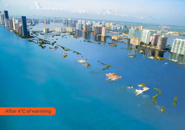 Jak wyglądałoby Miami Beach po zatopieniu w rezultacie globalnego ocieplenia