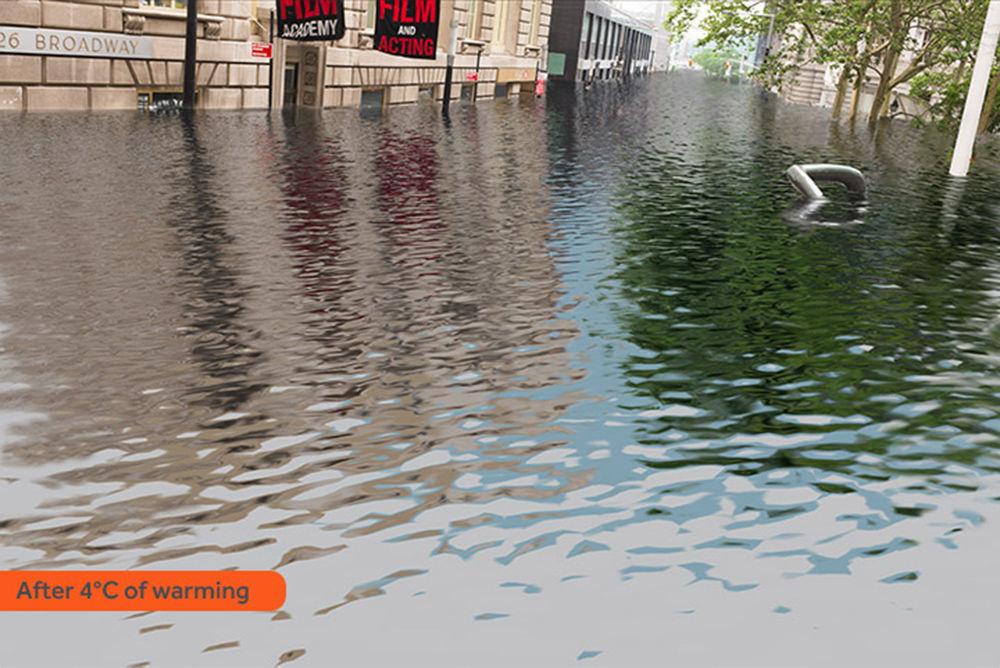 Jak wyglądałby Nowy Jork po zatopieniu w rezultacie globalnego ocieplenia