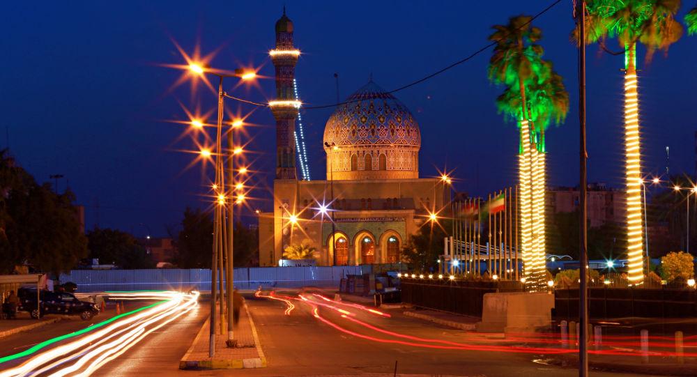 Nocna widok Bagdadu