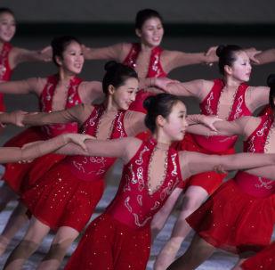 Północnokoreańskie łyżwiarki