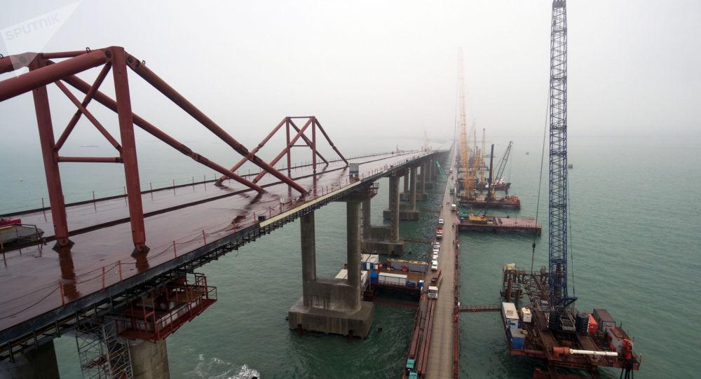 Budowa mostu przez Cieśninę Kerczeńską na Krymie